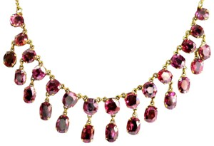 custom 18Kt Natural Spinel & Yellow Gold Dangle Necklace 24.00Ct 17