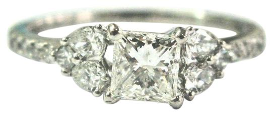 Preload https://img-static.tradesy.com/item/24782122/white-gold-18kt-natural-princess-pear-and-round-shape-diamond-engagement-117c-ring-0-1-540-540.jpg
