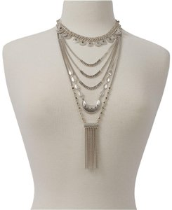 Lucky Brand Lucky Brand Statement Layer Necklace Silver