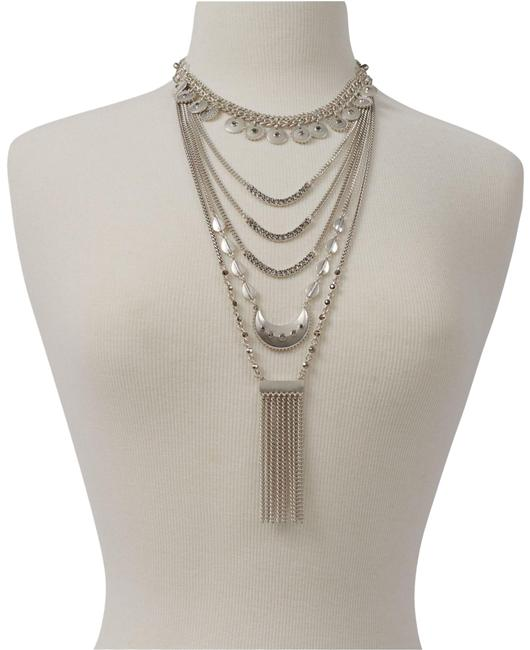 Item - Statement Layer Silver Necklace