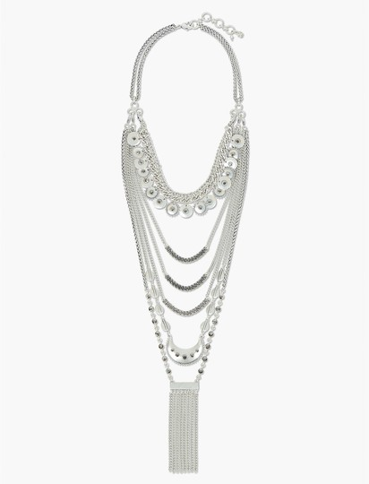 Lucky Brand Lucky Brand Statement Layer Necklace Silver Image 2