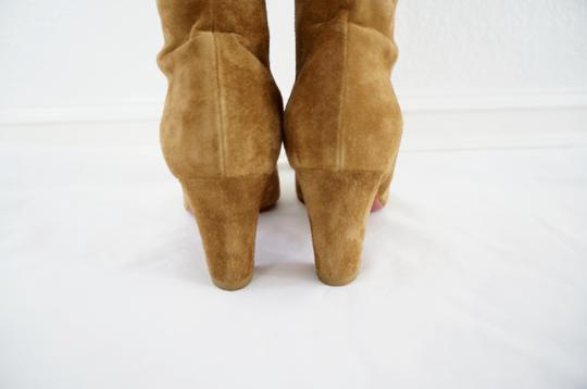 Christian Louboutin Suede Camel Boots