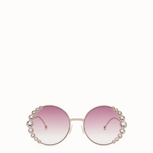 Fendi NEW Fendi 0324/S Ribbons Crystals Round Oversized Swarovski Sunglasses