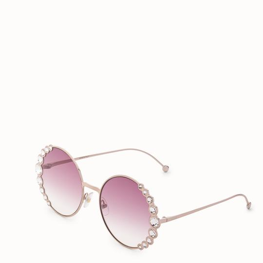 Fendi NEW Fendi 0324/S Ribbons Crystals Round Oversized Swarovski Sunglasses Image 1