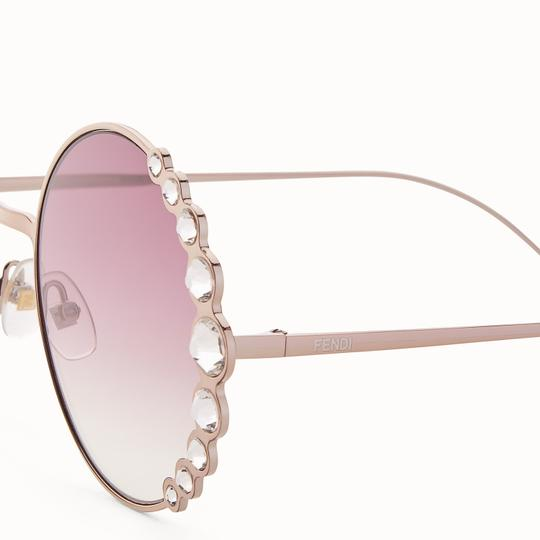 Fendi NEW Fendi 0324/S Ribbons Crystals Round Oversized Swarovski Sunglasses Image 2