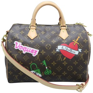 Louis Vuitton Lv Monogram Canvas Speedy Shoulder Bag