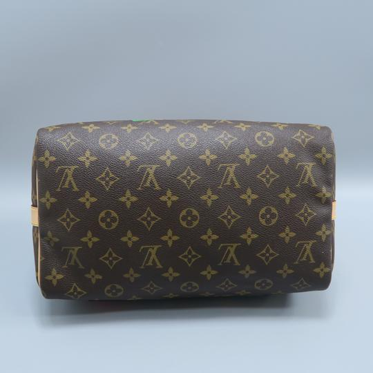Louis Vuitton Lv Monogram Canvas Speedy Shoulder Bag Image 2