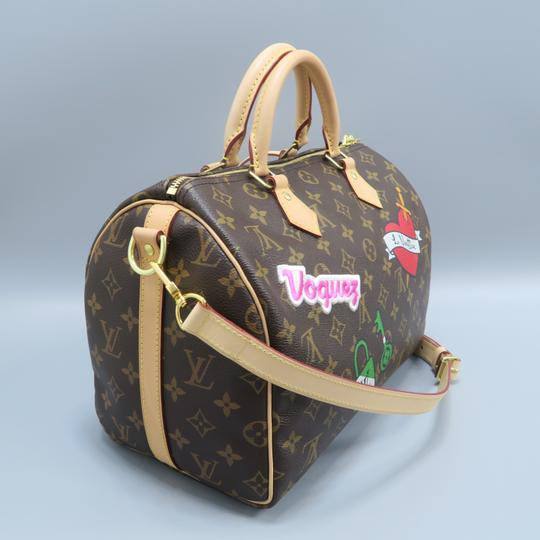 Louis Vuitton Lv Monogram Canvas Speedy Shoulder Bag Image 4