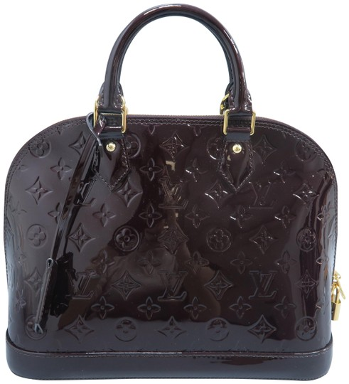 Louis Vuitton Lv Alma Vernis Pm Tote in Burgundy Image 0