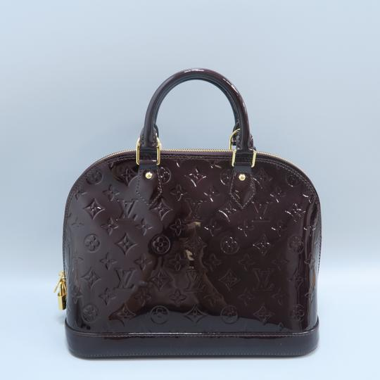 Louis Vuitton Lv Alma Vernis Pm Tote in Burgundy Image 2