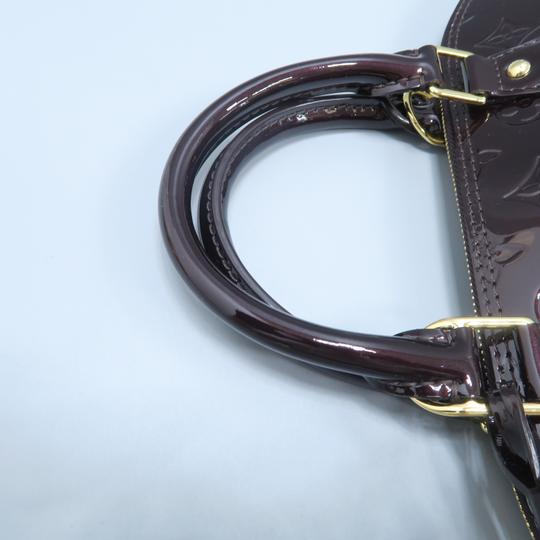 Louis Vuitton Lv Alma Vernis Pm Tote in Burgundy Image 6
