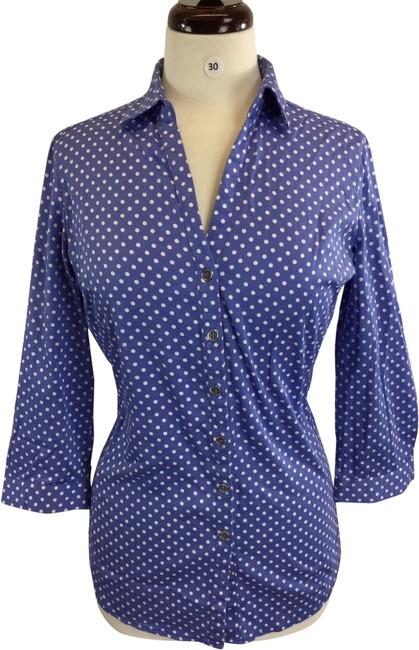 Preload https://img-static.tradesy.com/item/24782334/new-york-and-company-multicolor-women-long-sleeves-polka-dot-v-neck-small-button-down-top-size-4-s-0-3-650-650.jpg