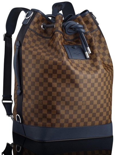 Preload https://img-static.tradesy.com/item/24782342/louis-vuitton-duffle-ultra-rare-runway-damier-ebene-blue-sac-marin-17lz0129-brown-coated-canvas-back-0-2-540-540.jpg
