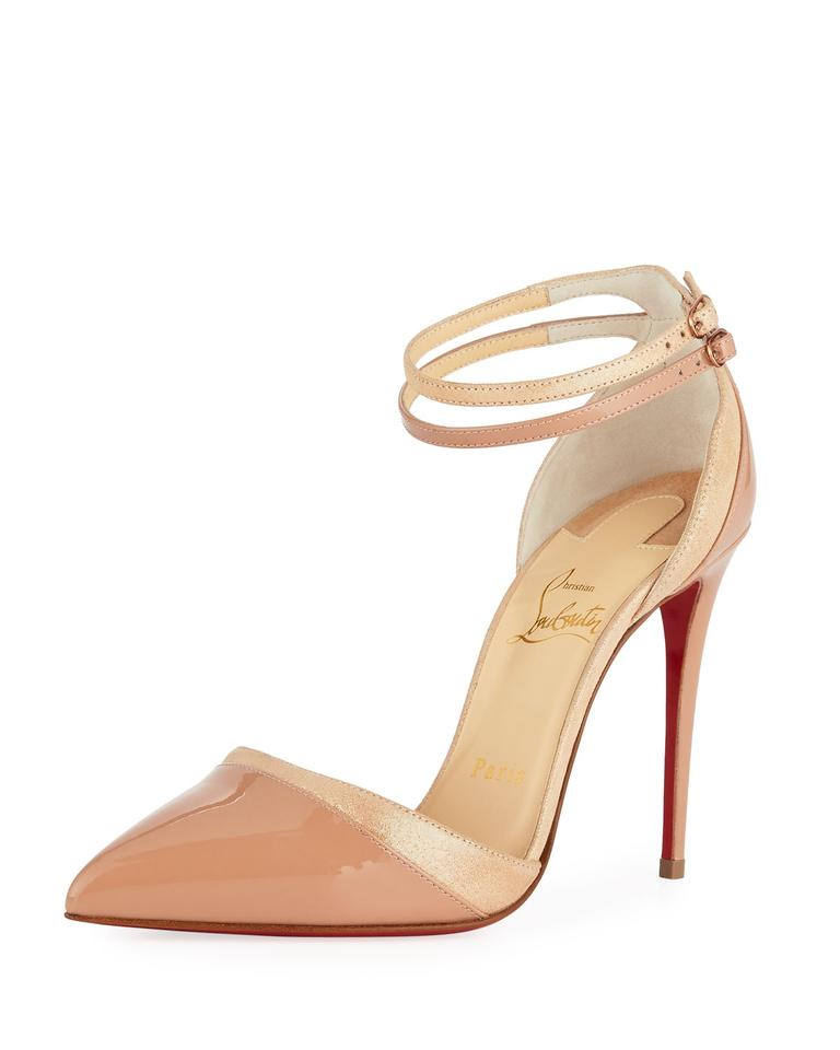 ef669636ac76 Christian Louboutin Nude New Uptown-double Leather   Suede Lamé ...