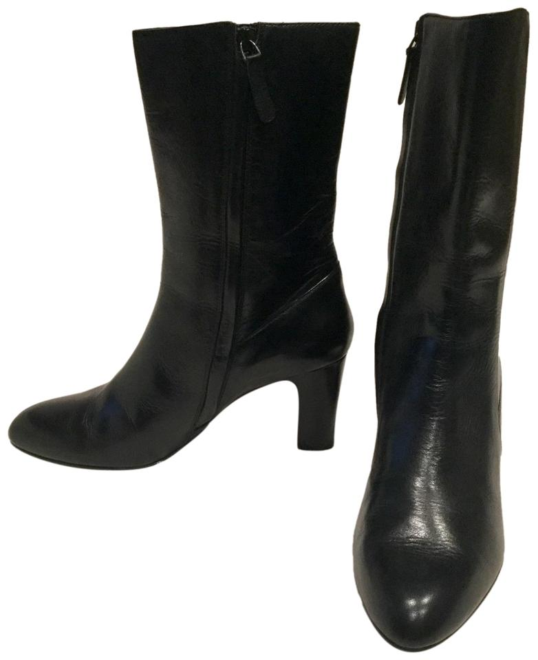 16a3076daa5 Cole Haan Black Classic Mid-calf Leather Boots/Booties Size US 9 Regular  (M, B)