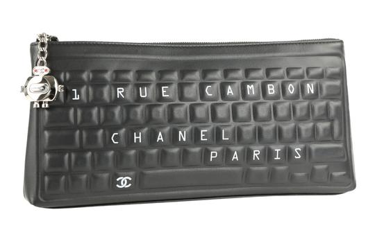 Chanel Pouch Leather Black Clutch Image 1