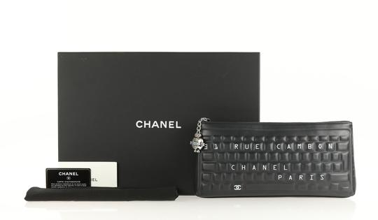 Chanel Pouch Leather Black Clutch Image 11