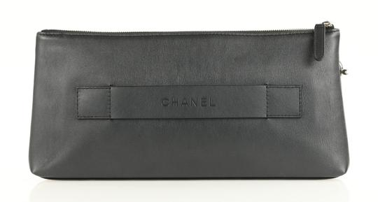 Chanel Pouch Leather Black Clutch Image 2
