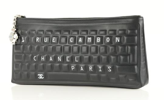 Chanel Pouch Leather Black Clutch Image 3