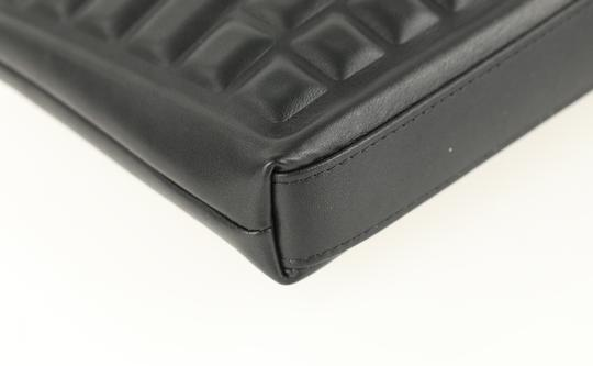 Chanel Pouch Leather Black Clutch Image 4