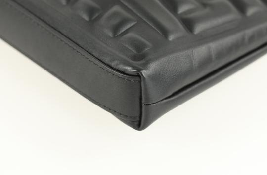 Chanel Pouch Leather Black Clutch Image 6