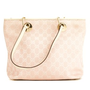 351fa5612ded Gucci Eclipse Gg Monogram Small 3970020 Pink Canvas Tote - Tradesy