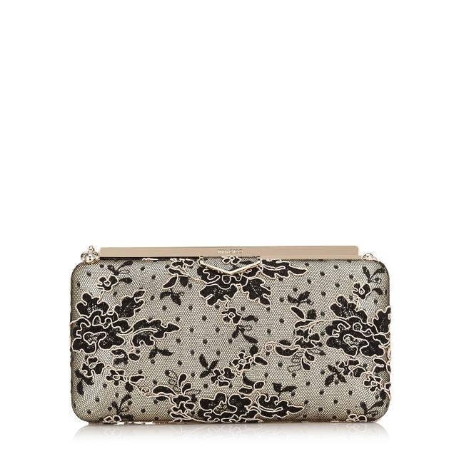 Item - Ellipse New Corded Black Nude Lace Clutch