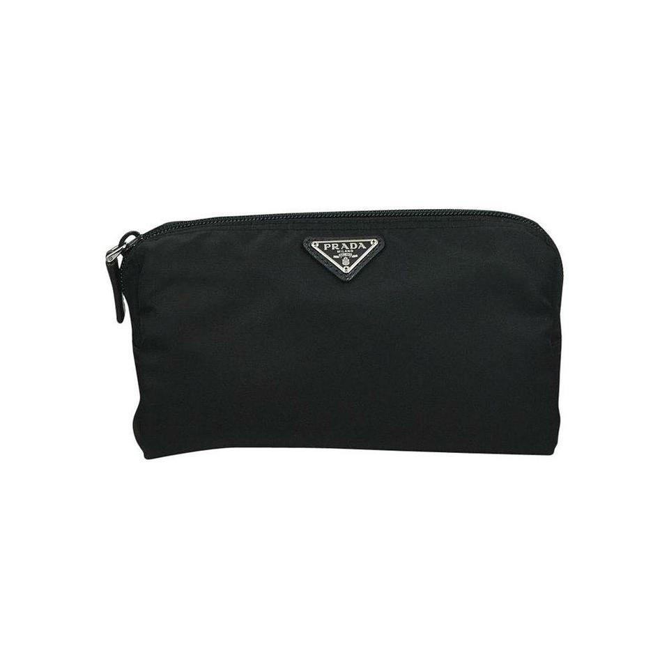 f3d5cf1a5fca Prada Black New Medium Vela Pouch Cosmetic Bag - Tradesy