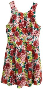 Alex + Alex short dress Red Multi Floraldress Fitandflare Dresslarge Redfloral on Tradesy