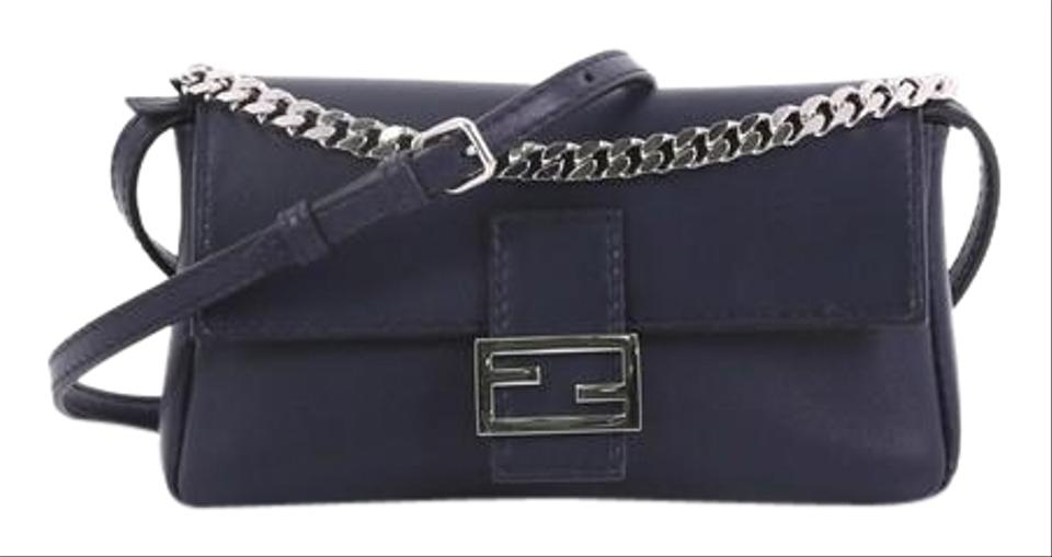 cc5d9d839dc1 Fendi Baguette Micro Navy Leather Cross Body Bag - Tradesy