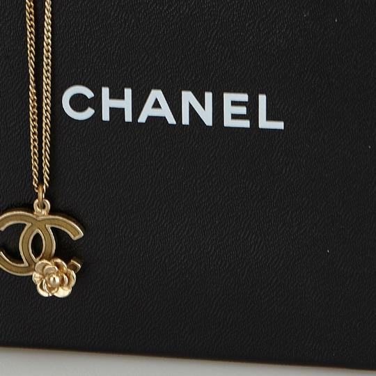 Chanel Chanel Gold CC and Camellia Pendant Necklace Metal France w/ Box Image 11