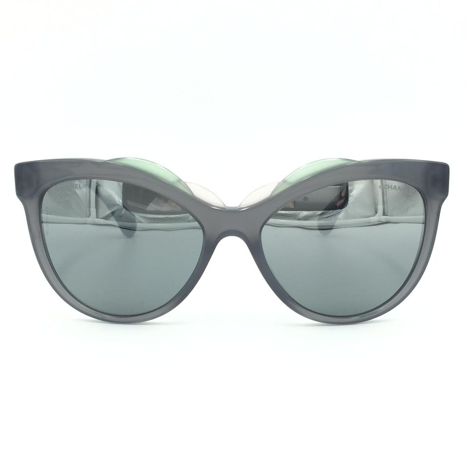 a8fe78457aa Chanel Butterfly Transparent Gray Clear Mirror Sunglasses 71186A S5105  Image 0 ...