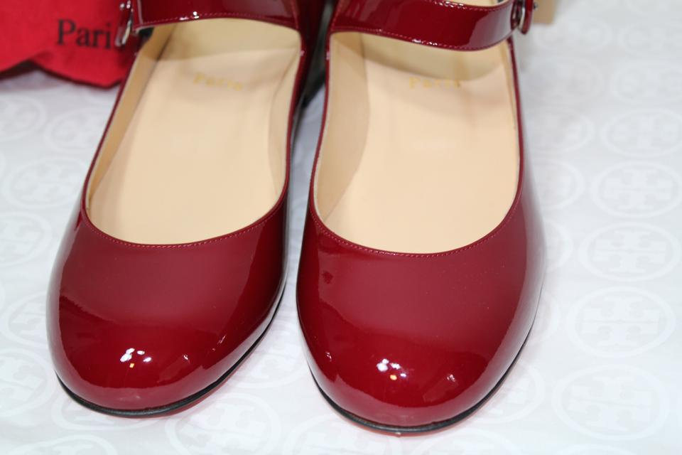 b32fb64a52f Christian Louboutin Red Leopard New Patent Leather Mary Janes Low Pumps  Size EU 38.5 (Approx. US 8.5) Regular (M, B)