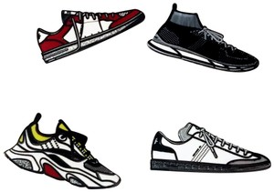 5b4e0865192c4 Dior Multicolor New Ultra Rare Sneaker Pin Set and Paper Clips 61% off  retail