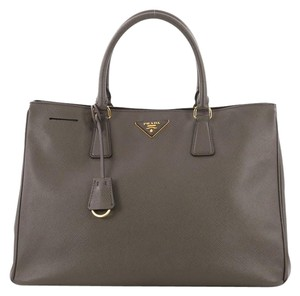 0a7ee41cb889 Added to Shopping Bag. Prada Leather Tote in taupe. Prada Lux Open Saffiano  Large ...