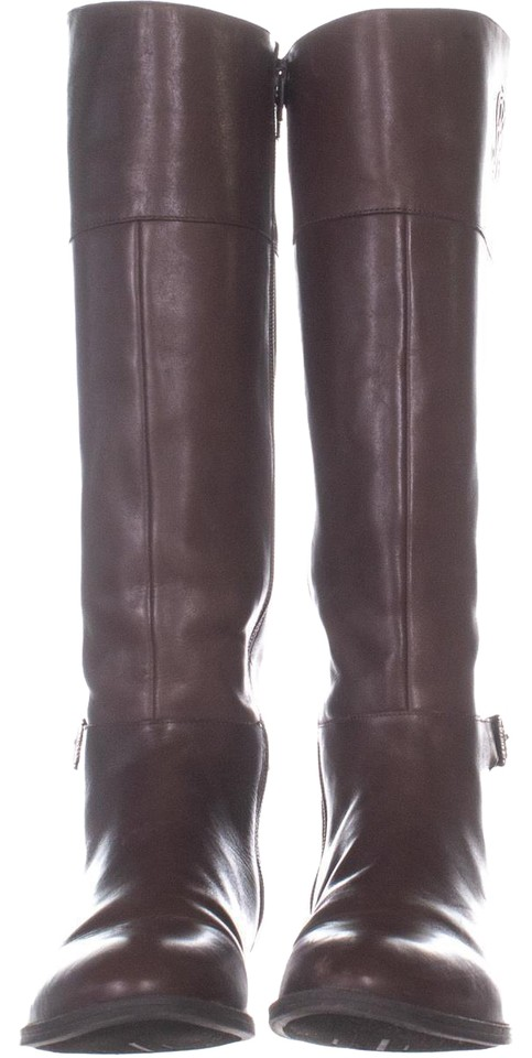 d8995704e0f Naturalizer Brown Kelsey Wide Calf Knee High 896 Light Maple Leather ...