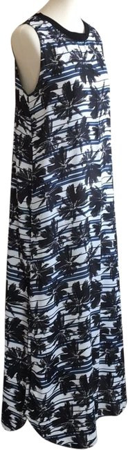 Item - Navy and White Stripe Palm Tree Print Long Casual Maxi Dress Size 6 (S)