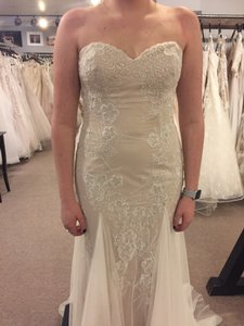 Wtoo Ivory/Nude Lace and Tulle Lian-50600 Modest Wedding Dress Size 12 (L)