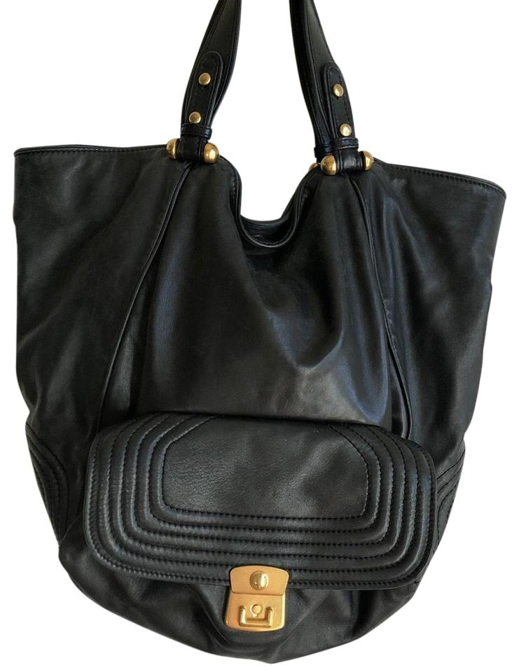 Marc by Marc Jacobs Extra Large Soft Quilted Black Leather Tote ... 897e5547e5388