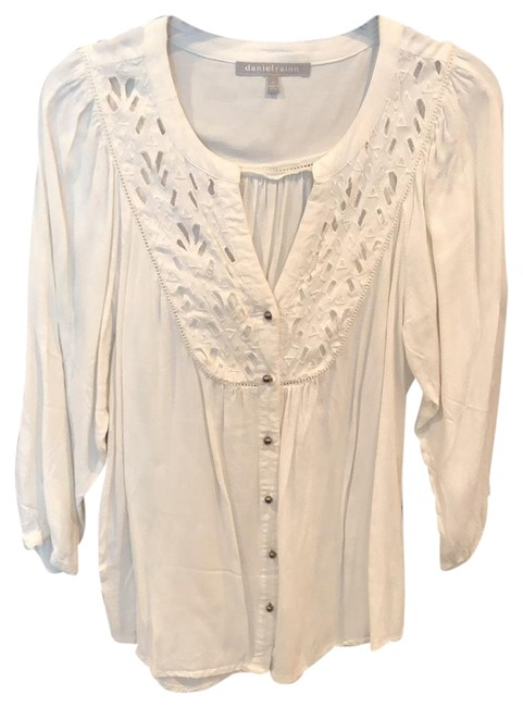 Item - Off White Blouse Button-down Top Size 6 (S)