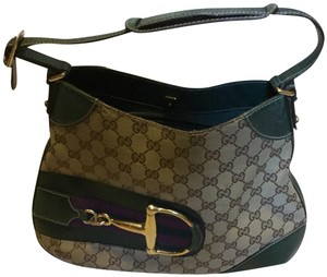 Gucci Satchel in brown & green