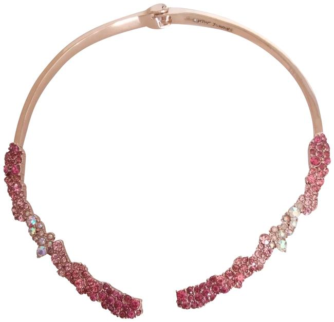 Item - Pink New Stone Encrusted Choker Necklace