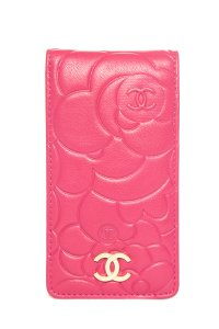 Chanel CHANEL Rose Leather Phone Case