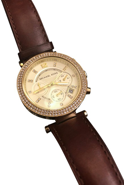 Item - Brown and Gold Parka Chronograph Leather Watch