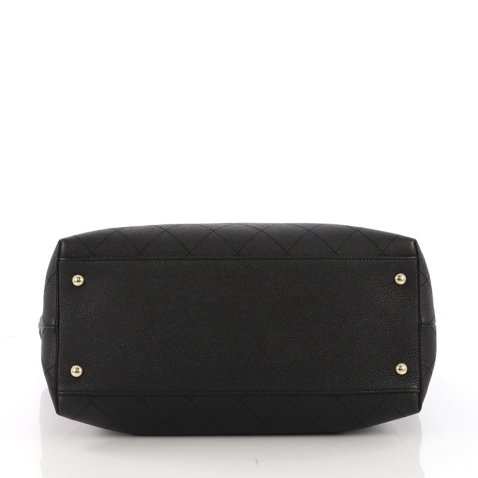 1a87808b1a8d Chanel Shopping Zip and Carry Quilted Caviar Large Black Leather ...