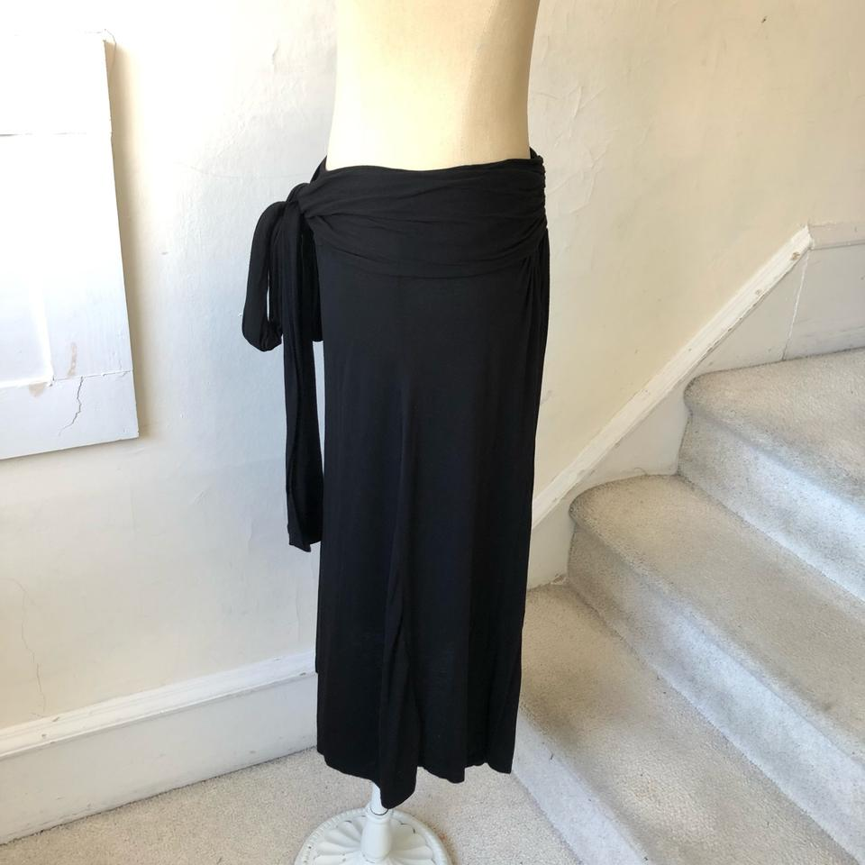 db3599a4d James Perse Black Tie Front Flowy Euc Skirt Size 4 (S, 27) - Tradesy