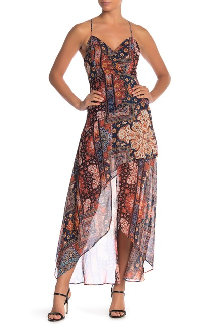 Item - Orange Spice Printed High-low Mid-length Casual Maxi Dress Size 2 (XS)