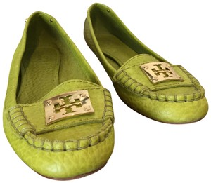 Tory Burch bright green Flats