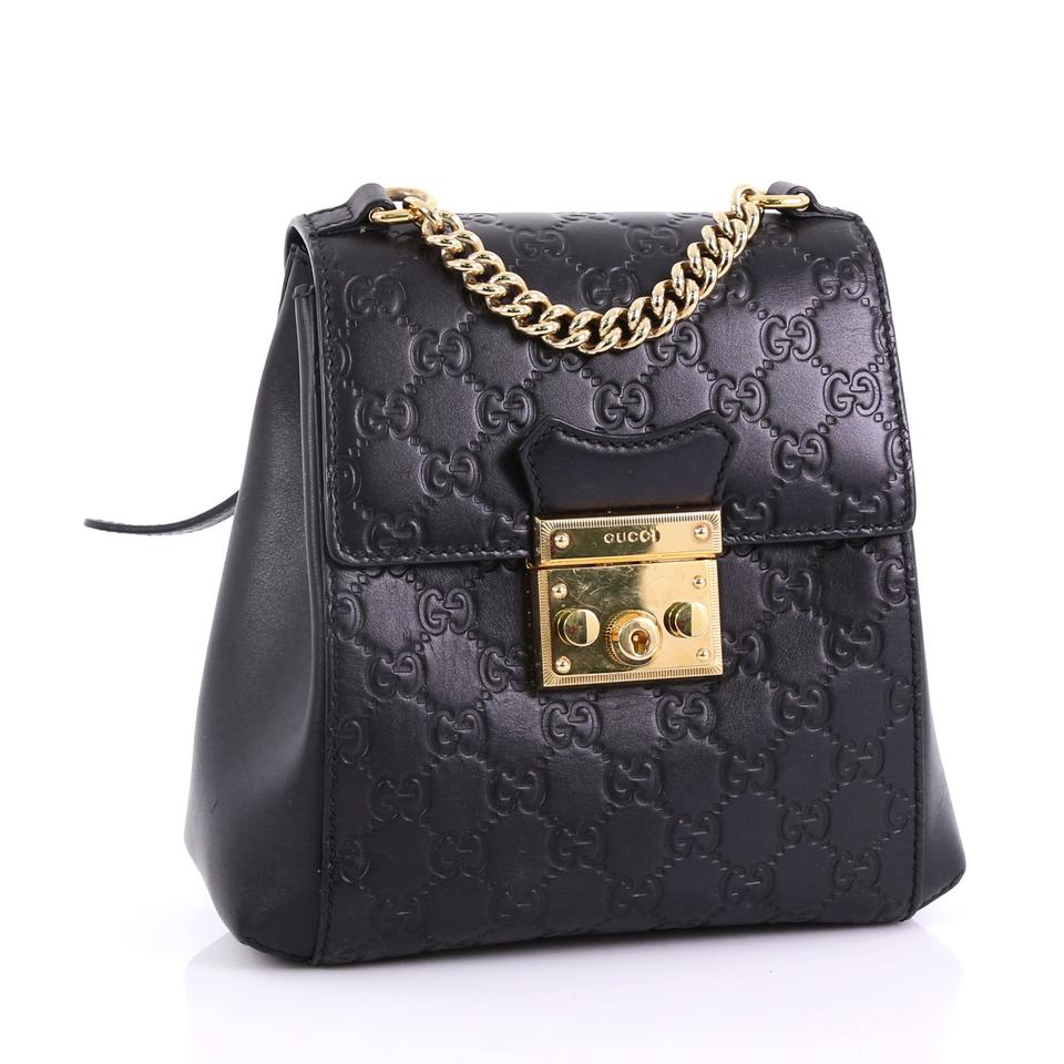 2b9b1daa7e14 Gucci Padlock Guccissima Mini Black Leather Backpack - Tradesy