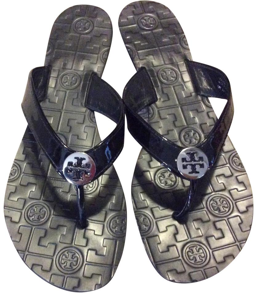 d7b07844fca6b Tory Burch Patent Flip Flops Sandals Size US 9 Regular (M